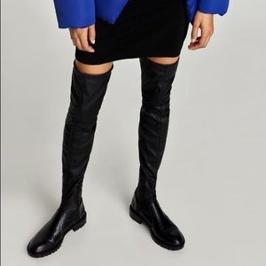 Zara flat over the knee boots